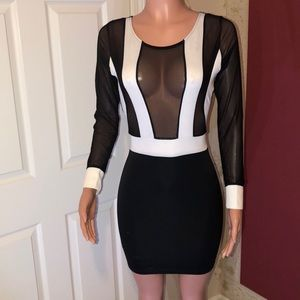 NWOT 👗Sexy Black & White Party Dress 👗